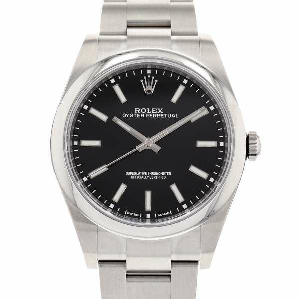 ロレックス オイスターパーペチュアル39 ランダムシリアル ルーレット 114300  ROLEX 腕時計 黒文字盤