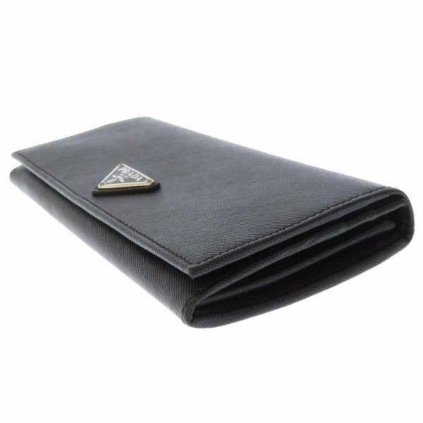 プラダ 長財布 サフィアーノ ブラック 1M1132 PRADA 財布 二つ折り財布 黒