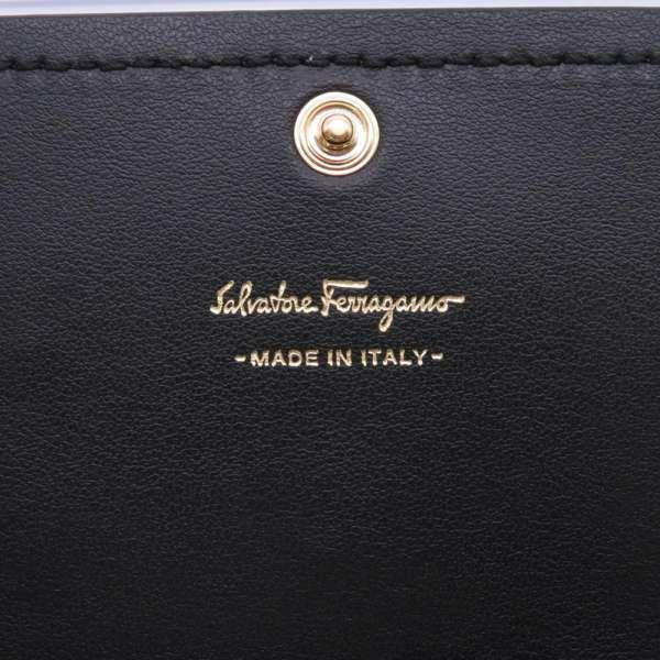 サルヴァトーレ・フェラガモ 長財布 ヴァラ コンチネンタルウォレット 22C690 Salvatore Ferragamo 財布 黒 リボン