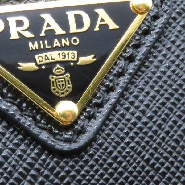 プラダ チェーンショルダーバッグ Re Edition 2000 サフィアーノ 1BH171 PRADA バッグ 斜め掛け クラッチバッグ 3way 黒