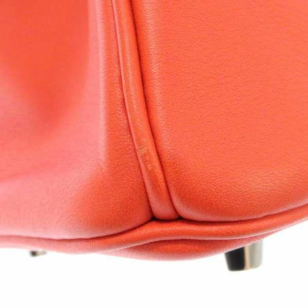 エルメス バーキン25 カプシーヌ/シルバー金具 ヴォースイフト X刻印 HERMES Birkin ハンドバッグ