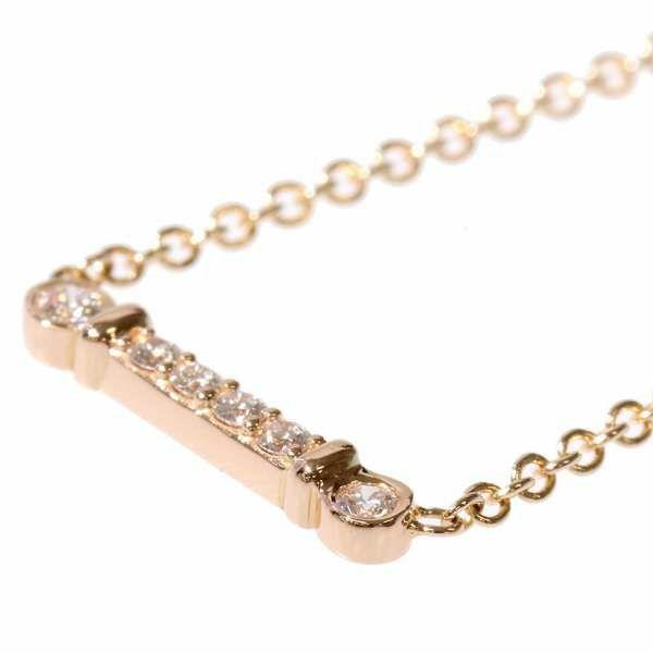 ティファニー ネックレス フルール ド リス ステム バー ダイヤモンド 0.04ct K18PGピンクゴールド Tiffany&Co. ジュエリー ペンダント