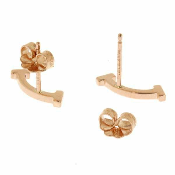 ティファニー ピアス Tスマイル K18PGピンクゴールド Tiffany&Co. ティファニー T コレクション