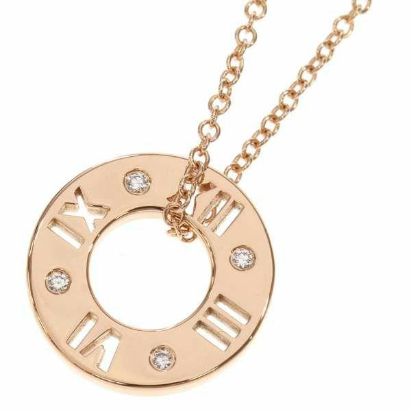 ティファニー ネックレス アトラス スモール ダイヤモンド K18PGピンクゴールド Tiffany&Co. ジュエリー ペンダント
