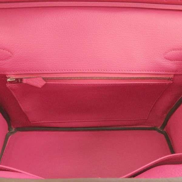 エルメス バーキン30 フューシャピンク/シルバー金具 オーストリッチ C刻印 HERMES Birkin ハンドバッグ
