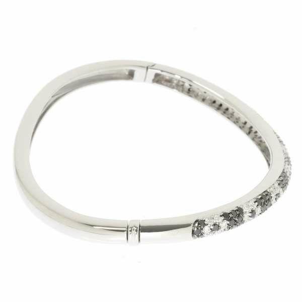 ダイヤモンド ブレスレット ダイヤモンド 1.86ct K18WGホワイトゴールド ジュエリー バングル
