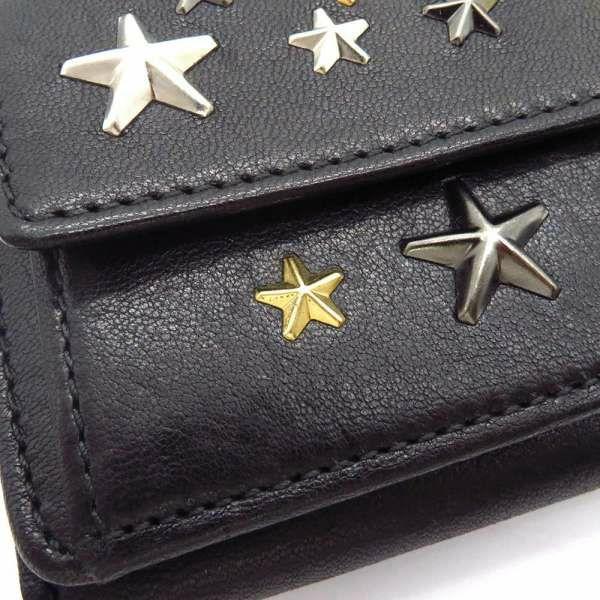 ジミーチュウ 三つ折り財布 ネモ NEMO スタースタッズ JIMMY CHOO 財布 コンパクトウォレット ミニ財布 黒