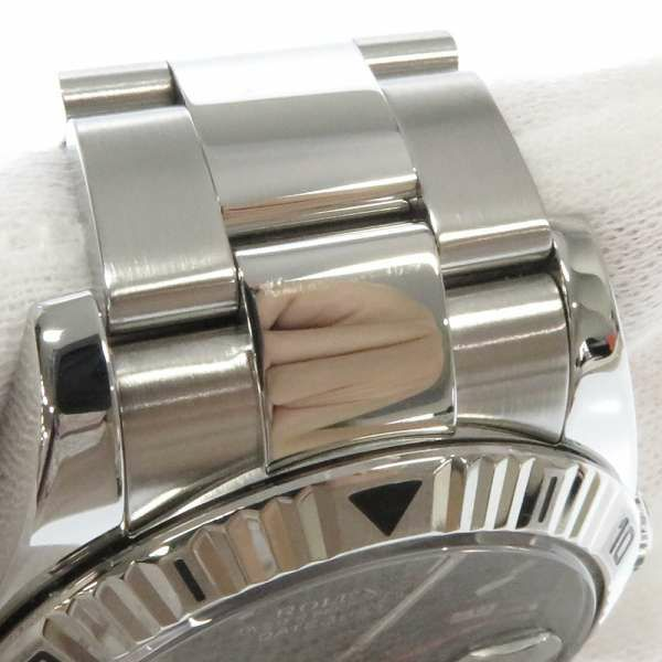 ロレックス デイトジャスト ターノグラフ SS/K18WGホワイトゴールド D番 116264 ROLEX 腕時計 黒文字盤