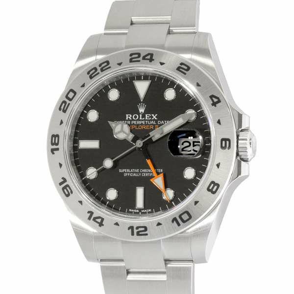 ロレックス エクスプローラー2 ランダムシリアル ルーレット 216570 ROLEX 腕時計 ウォッチ 黒文字盤