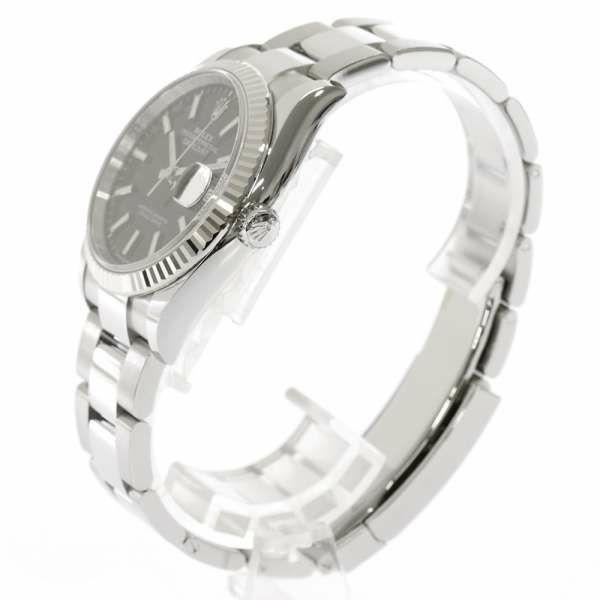 ロレックス デイトジャスト36 SS/K18WGホワイトゴールド ランダムシリアル ルーレット 126234 ROLEX 腕時計 黒文字盤
