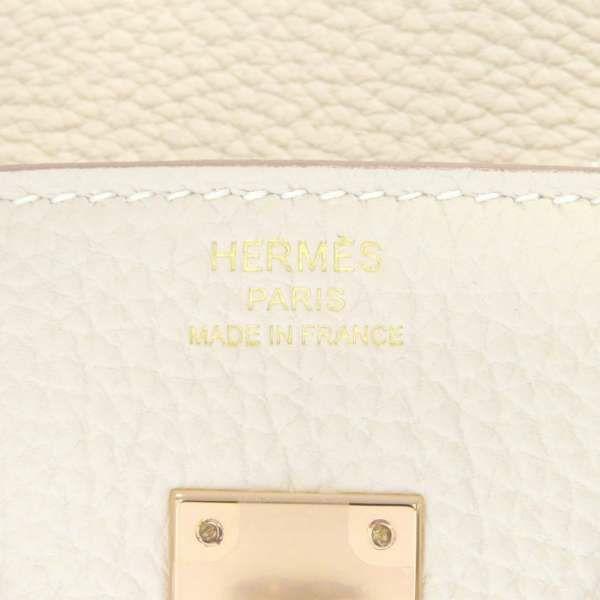 エルメス バーキン25 クレ/ピンクゴールド金具 トゴ Z刻印 HERMES Birkin ハンドバッグ
