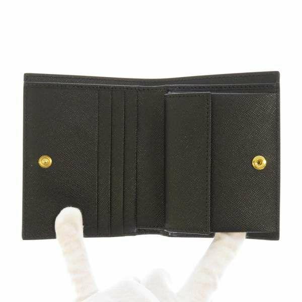 マルニ 二つ折り財布 PFMOQ14U07 MARNI 財布 コンパクト財布 ブラック 黒