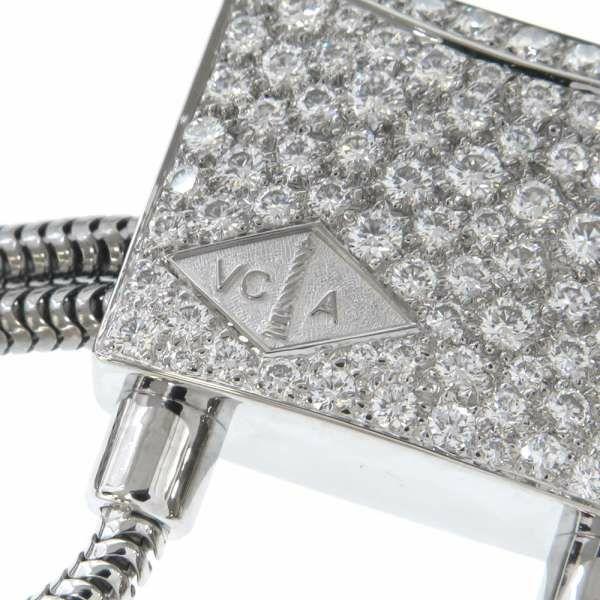 ヴァンクリーフ&アーペル ネックレス カギモチーフ ダイヤモンド K18WG Van Cleef & Arpels タッセル ジュエリー アクセサリー