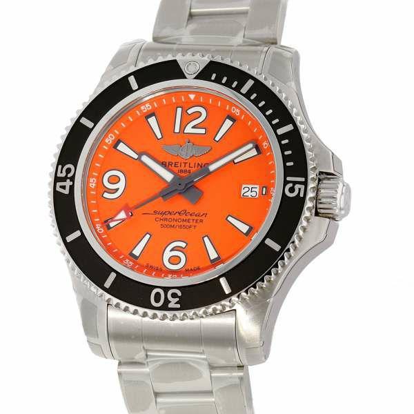 ブライトリング スーパーオーシャン オートマチック42 A17366D7101A1/A2820-1PSS BREITLING 腕時計 オレンジ文字盤