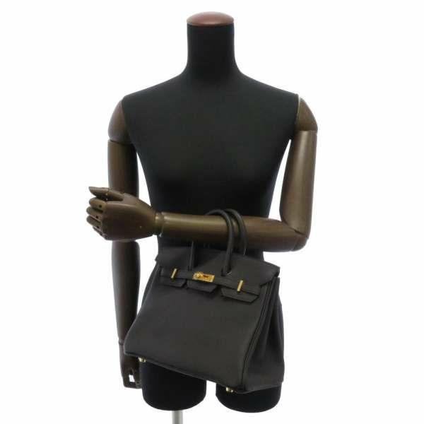 エルメス バーキン25 ブラック/ゴールド金具 トゴ Z刻印 HERMES Birkin ハンドバッグ 黒