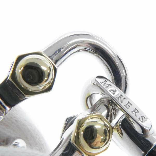 ティファニー ブレスレット 1837 メイカーズ ミディアム SV925シルバー K18YGイエローゴールド カーフレザー Tiffany&Co. ジュエリー メンズ 黒