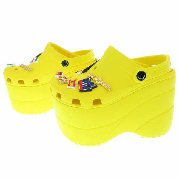 バレンシアガ クロックス プラットフォーム サンダル ラバー レディースサイズ36 BALENCIAGA 靴