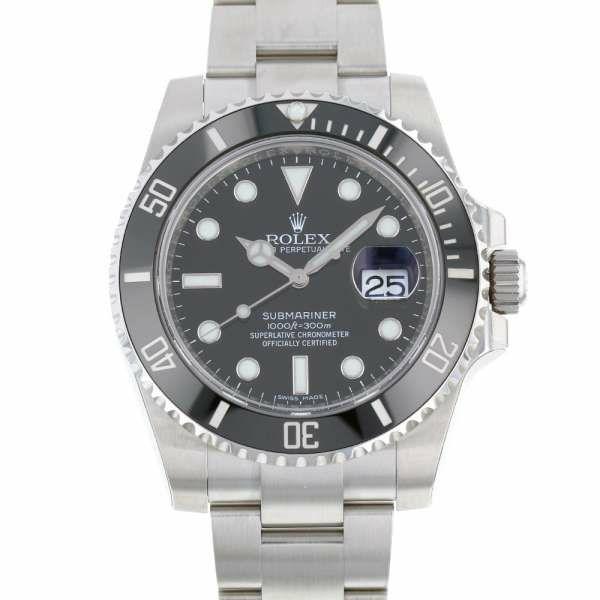 ロレックス サブマリーナ デイト ランダムシリアル ルーレット 116610LN ROLEX 腕時計 ウォッチ 黒文字盤