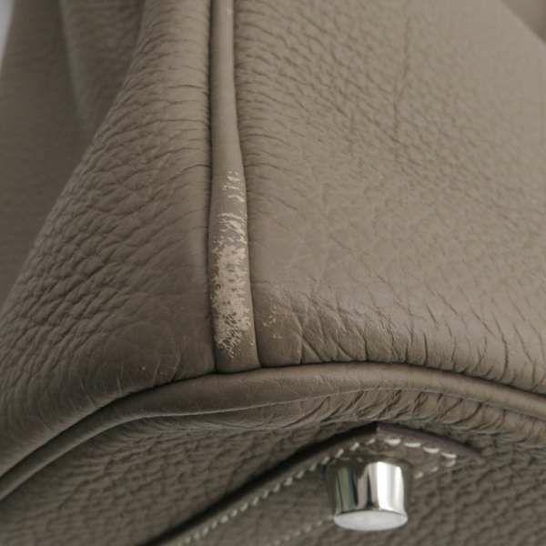 エルメス バーキン30 エトゥープ/シルバー金具 トゴ □Q刻印 HERMES Birkin ハンドバッグ