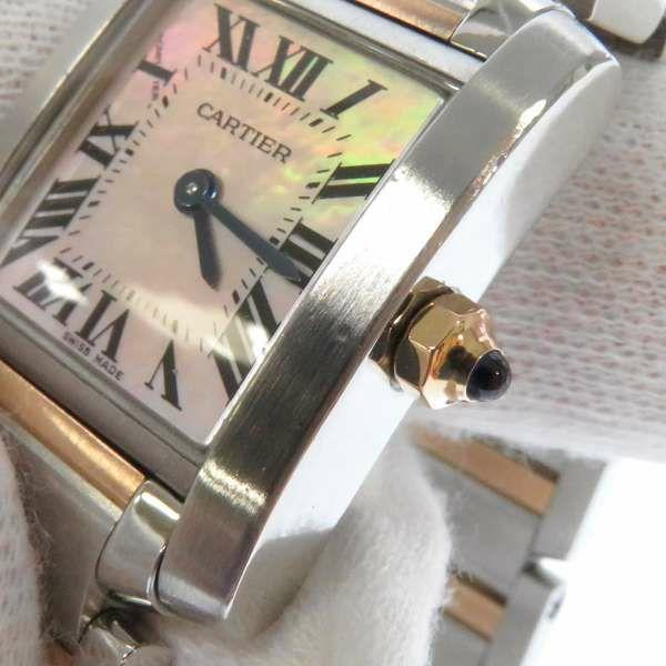 カルティエ タンクフランセーズSM ピンクシェル文字盤 W51027Q4 Cartier 腕時計 レディース