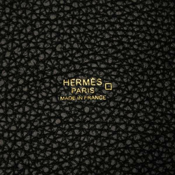 エルメス ハンドバッグ ピコタンロックPM タッチ ブラック/ゴールド金具 トリヨンクレマンス/アリゲーターマット Z刻印 HERMES トートバッグ 黒