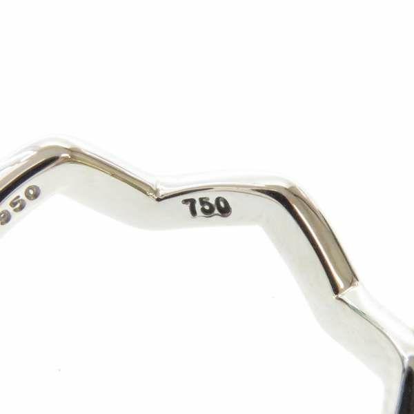 ティファニー リング ジグザグ 1P ダイヤモンド Pt950プラチナ/K18YGイエローゴールド サイズ8号 Tiffany&Co. 指輪 ジュエリー
