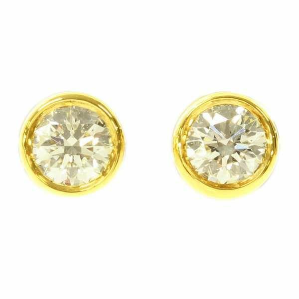 ティファニー ピアス エルサ・ペレッティ ダイヤモンド 計0.38ct K18YGイエローゴールド Tiffany&Co. ジュエリー ダイアモンド