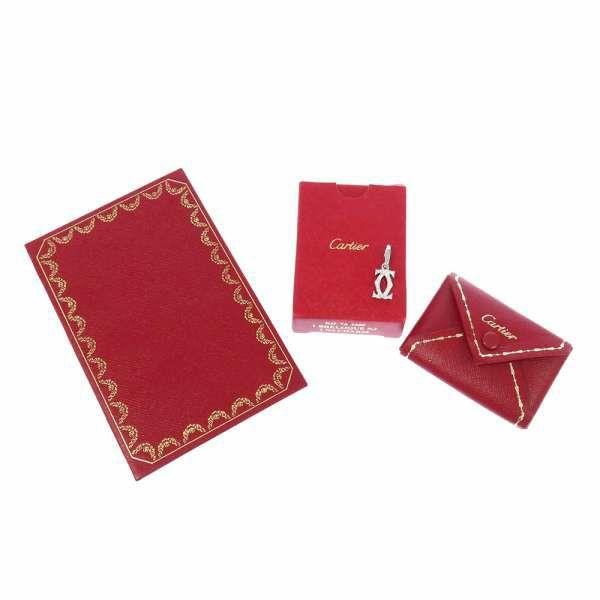 カルティエ チャーム 2C ダイヤモンド K18WGホワイトゴールド Cartier ジュエリー アクセサリー ペンダントトップ