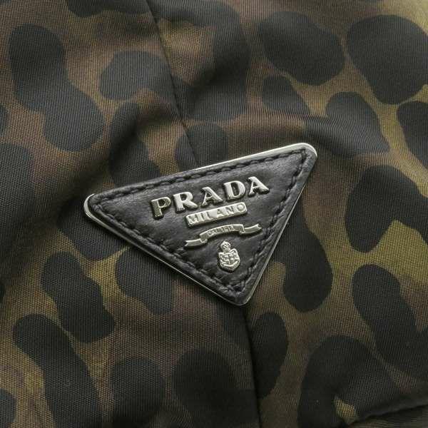プラダ トートバッグ ナイロン レオパード リバーシブル BR4521 PRADA バッグ 2way ショルダーバッグ