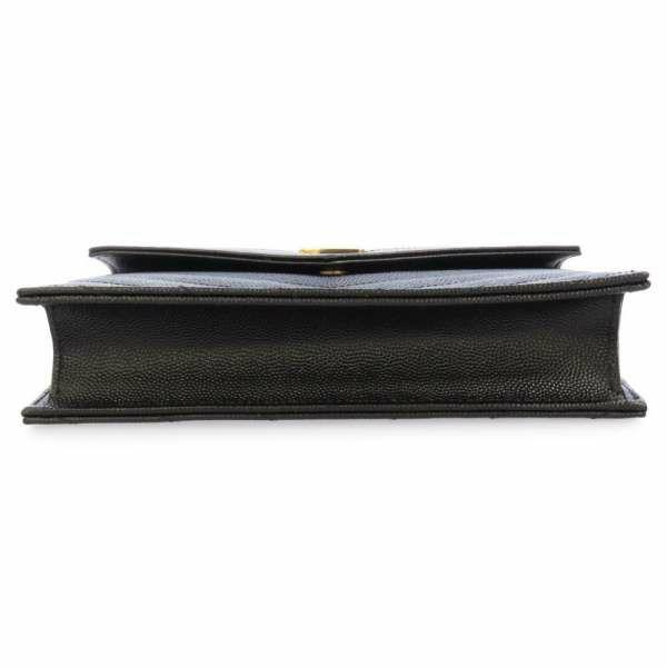 サンローランパリ チェーンウォレット モノグラム 377828 SAINT LAURENT PARIS 財布 YSL ショルダーバッグ クラッチバッグ ブラック 黒