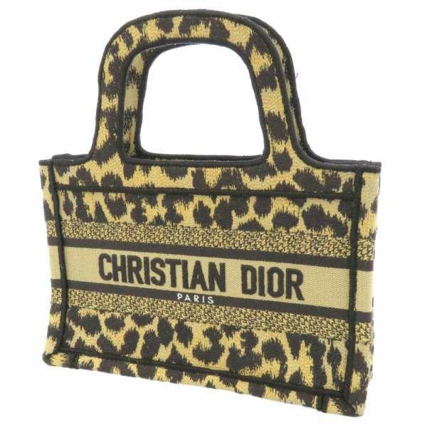 クリスチャン・ディオール トートバッグ ブックトート レオパード S5475ZRHM_M918 Christian Dior バッグ ハンドバッグ ヒョウ柄 黒