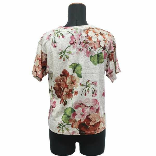 グッチ Tシャツ ハチ フラワーデザイン 418202 GUCCI アパレル 服 刺繍 お花