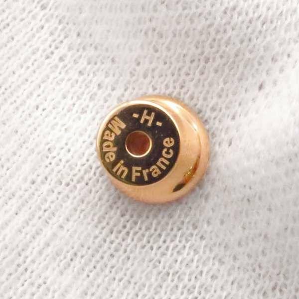 エルメス ピアス ミニ・ポップアッシュ ホワイト/ピンクゴールド金具 Hモチーフ HERMES Pop H ポップH 白