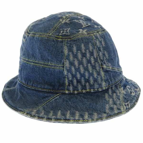 ルイヴィトン ハットボネ・ダミエ ジャイアント ウェーブ モノグラム サイズ58 MP2733 LOUIS VUITTON ヴィトン 帽子 デニム