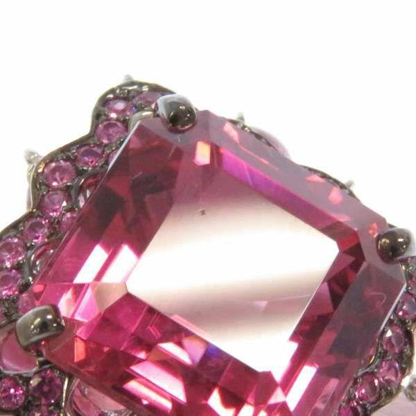 ブシュロン リング ルベライト ピンクサファイヤ ピンクトルマリン K18WGホワイトゴールド リングサイズ51 Boucheron ジュエリー 指輪 フリンジ