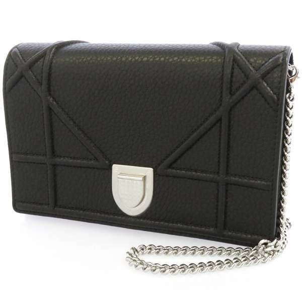 クリスチャン・ディオール チェーンウォレット ディオラマ Christian Dior クラッチバッグ 黒