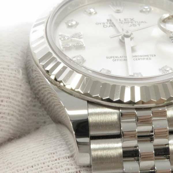 ロレックス デイトジャスト28 K18WG SS 9Pスターダイヤモンドインデックス シルバー文字盤 279174G ROLEX 腕時計 レディース