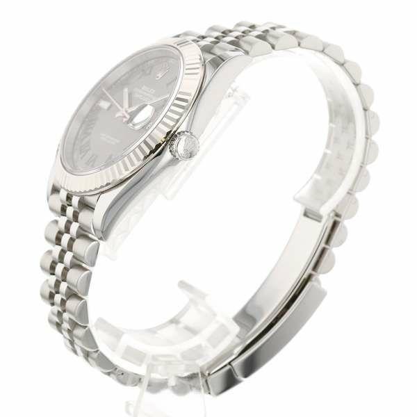 ロレックス デイトジャスト41 SS/K18WGホワイトゴールド グレー文字盤 ランダムシリアル ルーレット 126334 ROLEX 腕時計