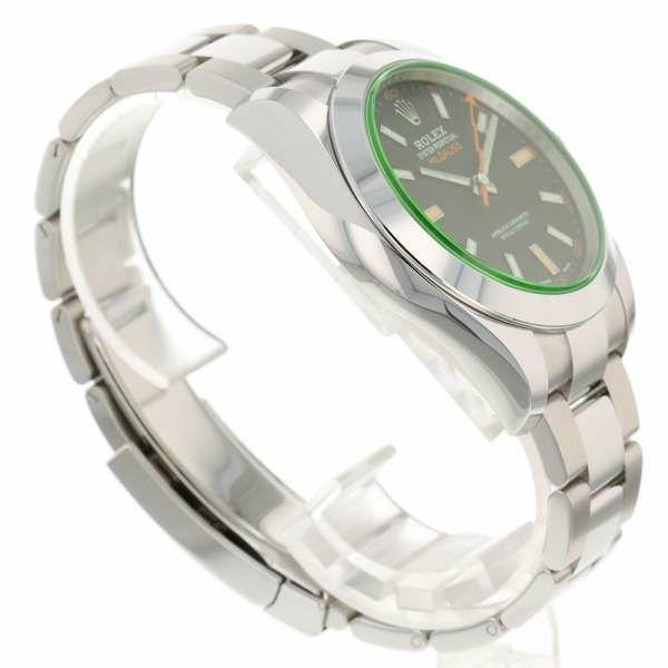 ロレックス ミルガウス グリーンガラス ランダムシリアル ルーレット 116400GV ROLEX 腕時計 黒文字盤