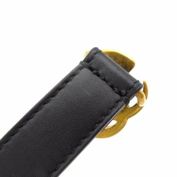 グッチ ベルト ダブルG バックル レディースサイズ80 409417 GUCCI アパレル ブラック 黒