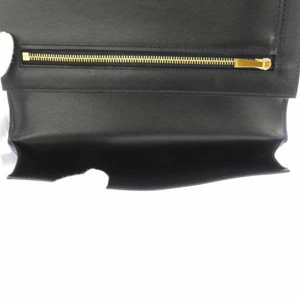 セリーヌ 二つ折り財布 ラージ ストラップウォレット 10B633BFP CELINE 財布 黒