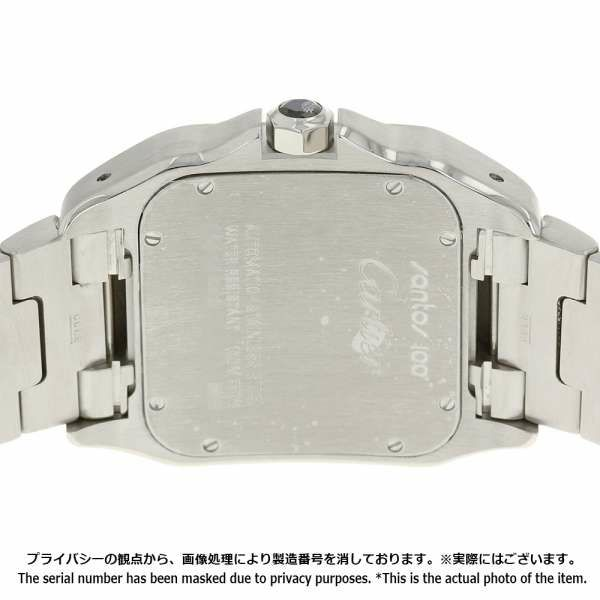 カルティエ サントス100 LM W200737G Cartier 腕時計 ウォッチ 白文字盤