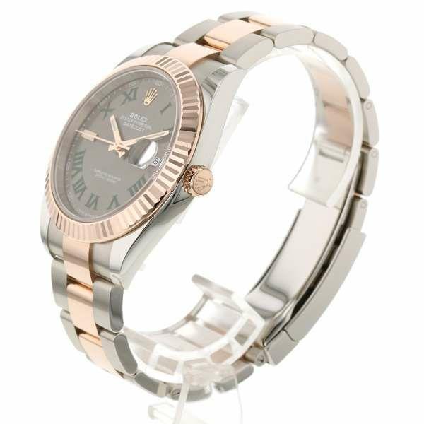 ロレックス デイトジャスト41 K18PGピンクゴールド ランダムシリアル ルーレット 126331 ROLEX 腕時計 エバーローズゴールド