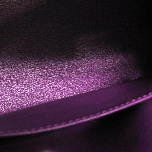 エルメス ハンドバッグ ケリー25 外縫い アネモネ/ゴールド金具 ヴォーエプソン D刻印 HERMES Kelly 2wayバッグ