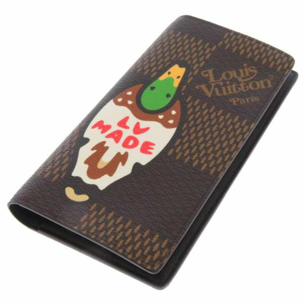 ルイヴィトン 長財布 ダミエ・ジャイアント ポルトフォイユ・ブラザ N60393 LOUIS VUITTON ヴィトン 財布