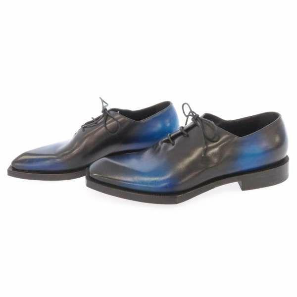 ベルルッティ ビジネスシューズ プレーントゥ レザー メンズサイズ10 Berluti シューズ 靴 ブルー 黒 安心保証