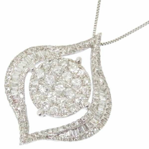 ダイヤモンド ネックレス K18WGホワイトゴールド ダイヤモンド1.55ct ジュエリー ペンダント ダイアモンド