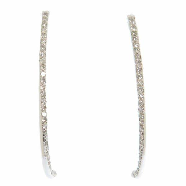 ロング ピアス ダイヤモンド計0.5ct K18WGホワイトゴールド ジュエリー アクセサリー ダイアモンド