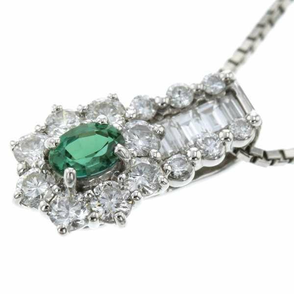 アレキサンドライト ネックレス アレキサンドライト0.31ct/ダイヤモンド0.70ct Pt950 Pt850 プラチナ950 プラチナ850 ジュエリー ペンダント 宝石