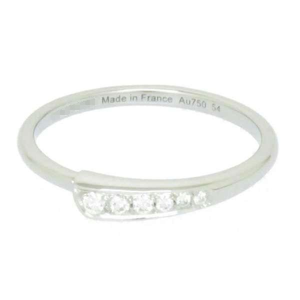 エルメス リング シェーヌダンクル・パンク ダイヤモンド K18WGホワイトゴールド リングサイズ54 HERMES ジュエリー 指輪